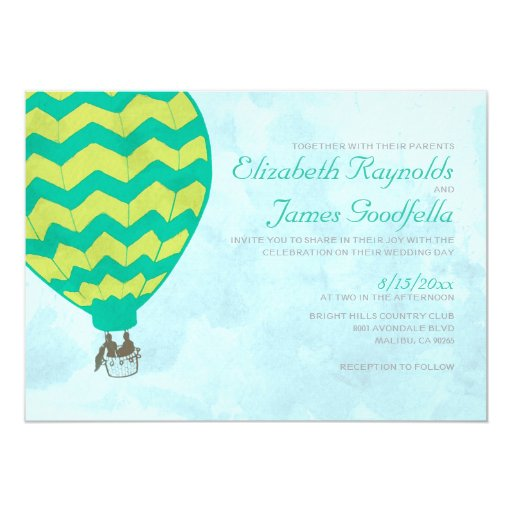 Hot Air Balloon Wedding Invitations