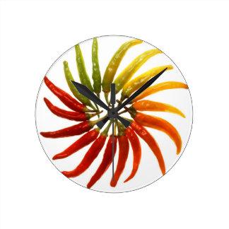 Chili Pepper Wall Clocks Zazzle