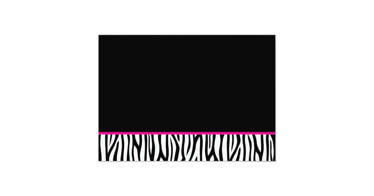 Hot Pink and Black Zebra Sweet 16 Number Birthday Card ...