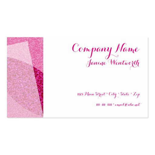 Hot Pink Glitter Border Business Card | Zazzle