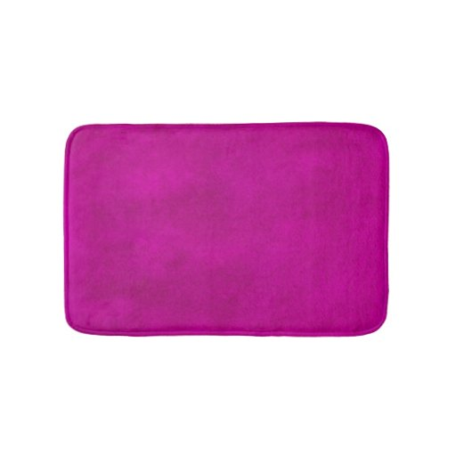 Hot Pink Magenta Watercolor Wash Bath Mat Zazzle
