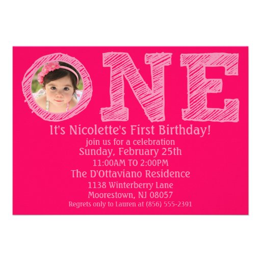 Hot Pink The Big One Photo First Birthday Party