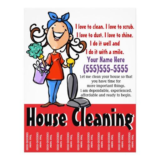 House Cleaning Marketing flyer | Zazzle