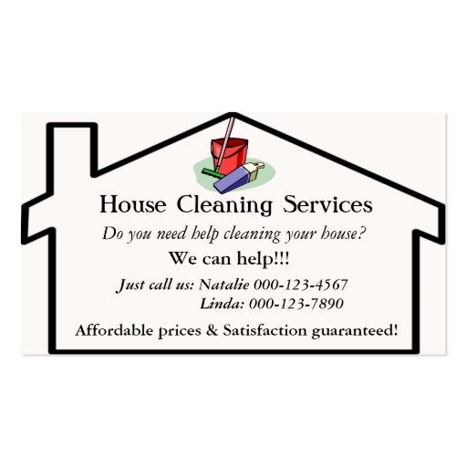 Cleaning Services Business Card Templates Bizcardstudio