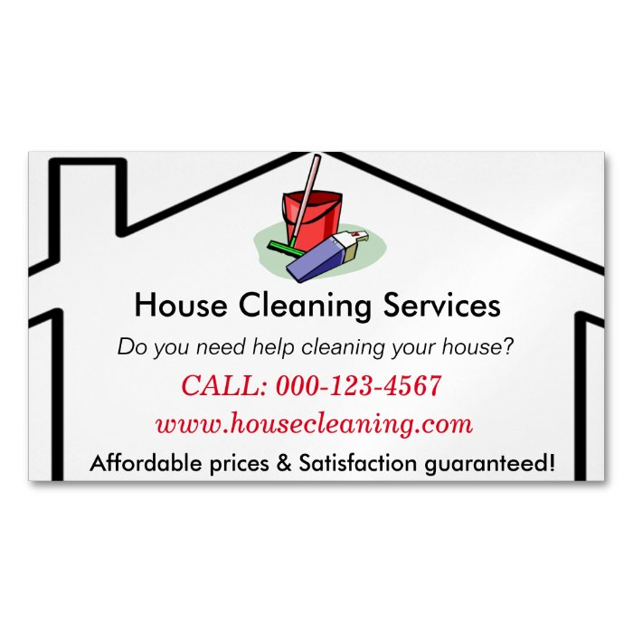 House Cleaning Services Business Card Template Zazzle