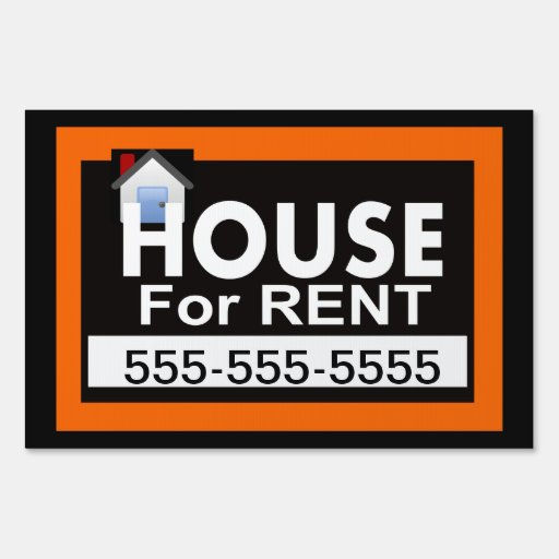 Www House Rent Com: House For Rent Yard Sign
