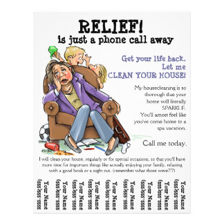 Cleaning Service Flyers & Programs | Zazzle