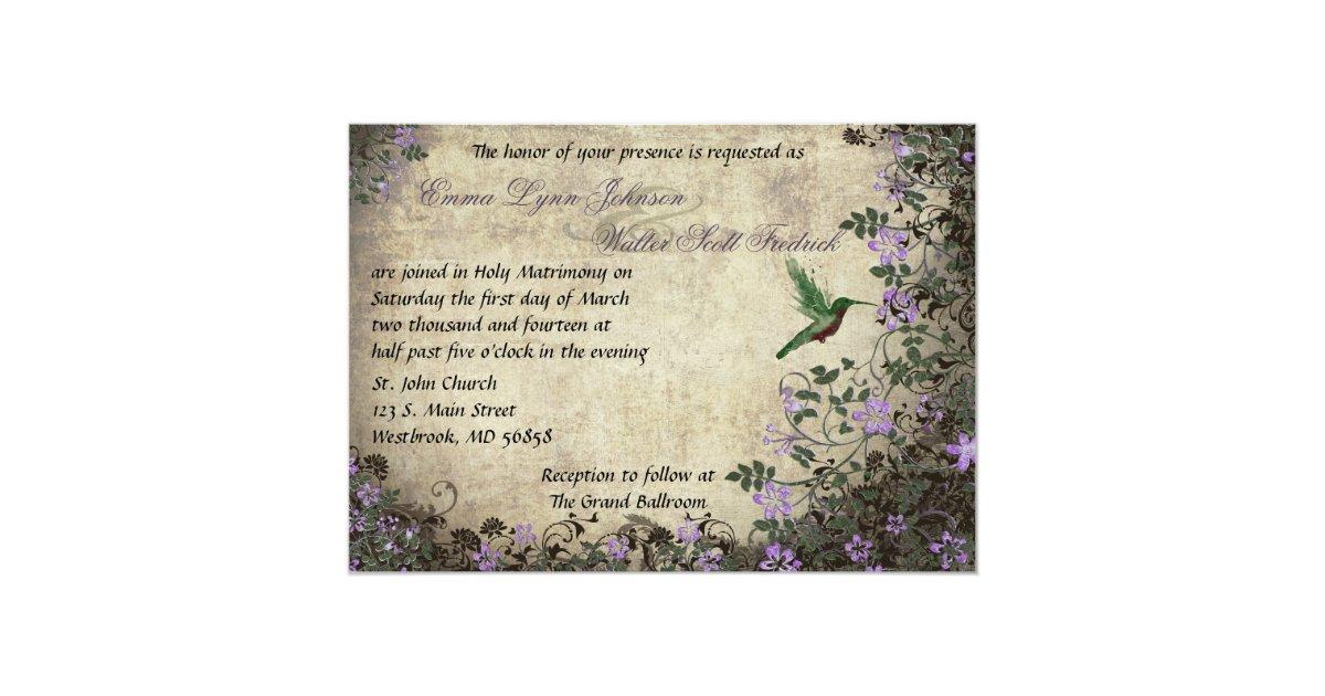Hummingbird Wedding Invitations
