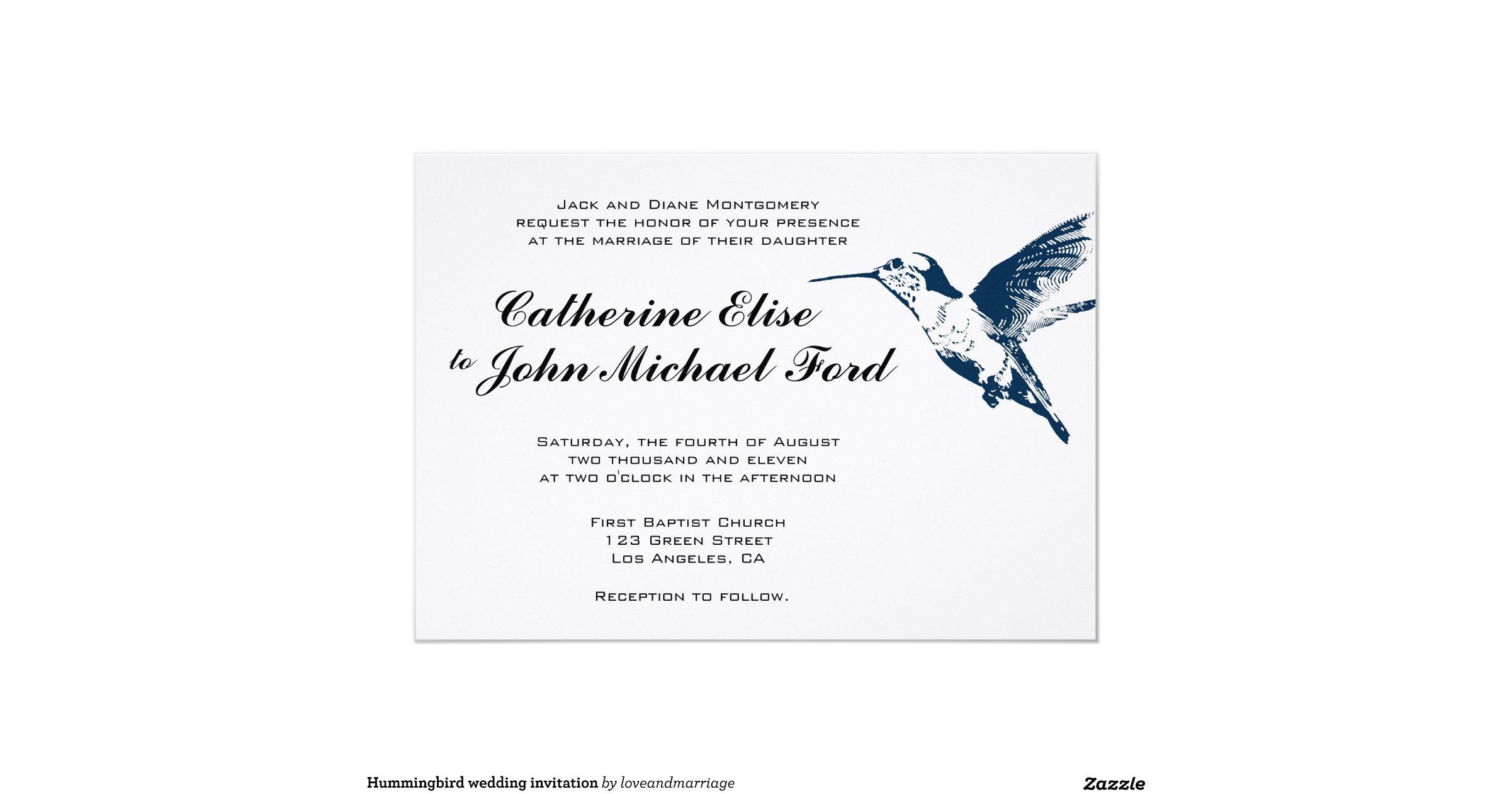 Hummingbird Wedding Invitations: Hummingbird_wedding_invitation