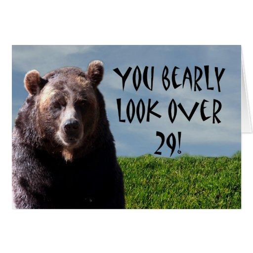 humorous_funny_bear_animal_birthday_card