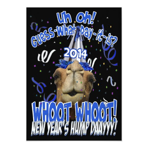 Hump Day Camel 2014 New Years Eve Party Invitation | Zazzle  Hump Day Camel ...