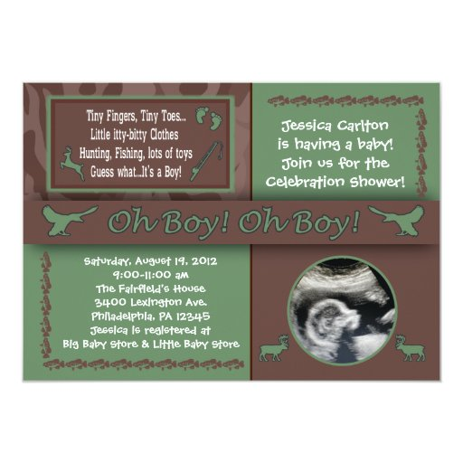 Fish Themed Baby Shower Invitations: Hunting & Fishing Baby Shower Invitations