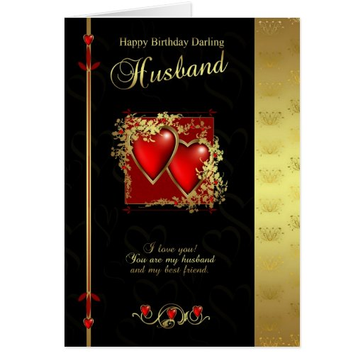 Happy Birthday Images For Husband: Husband Birthday Card - Happy Birthday Husband