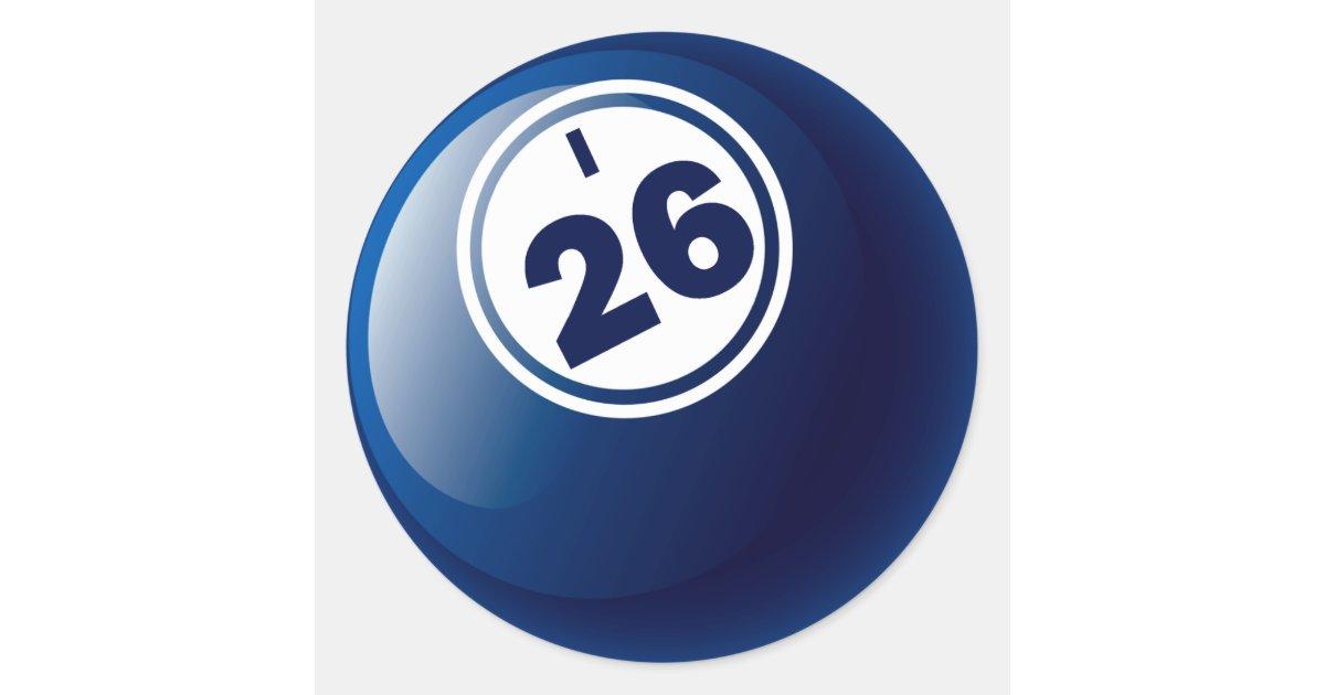 I 26 Bingo Ball Classic Round Sticker Zazzle