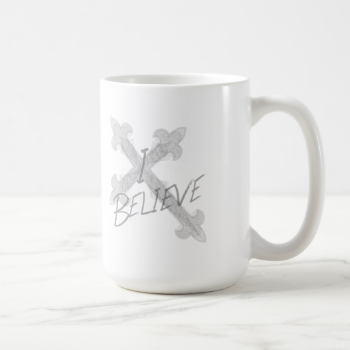 I Believe Grunge Cross Coffee Mug