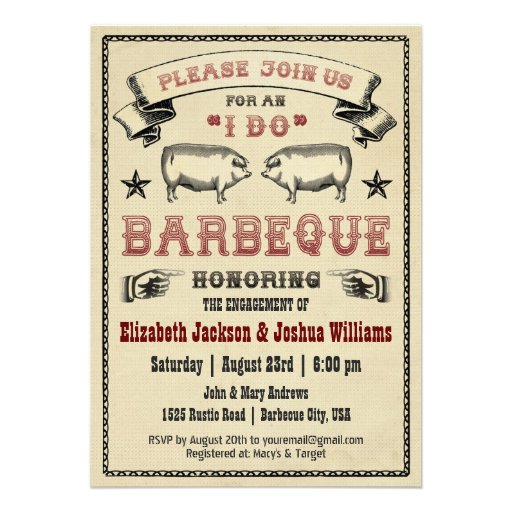 Personalized Pig Roast Invitations Custominvitations4u Com