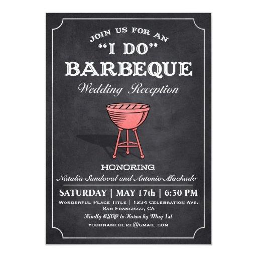 I Do Wedding Invitations: I DO BBQ Wedding Reception Invitations