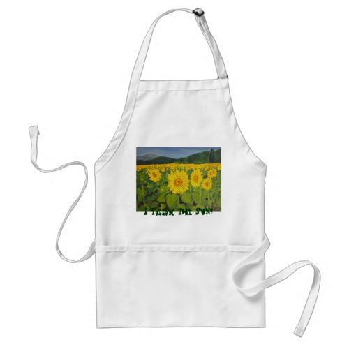 I follow the sun! apron