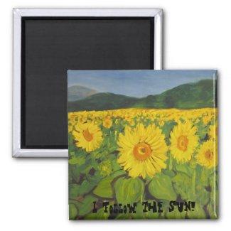 I follow the sun! magnet