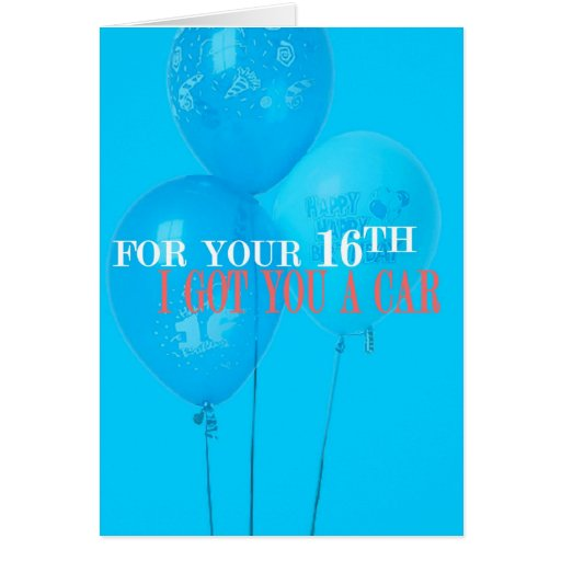 Funny 16th Birthday Cards, Funny 16th Birthday Card