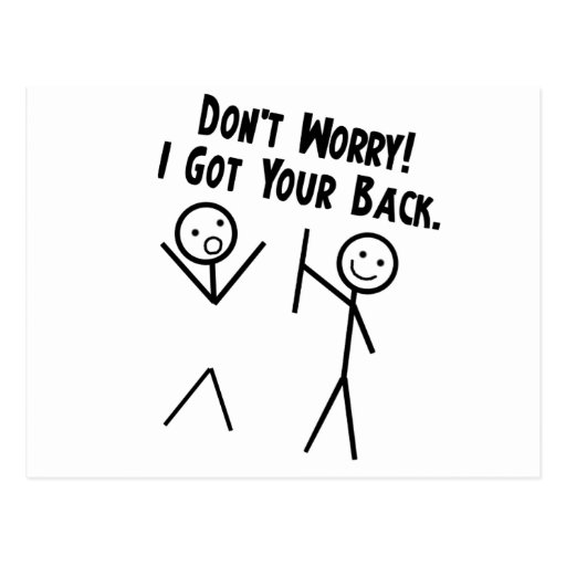 I Got Your Back - Don't Worry Postcard