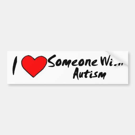 I Heart Someone With Autism Bumper Sticker