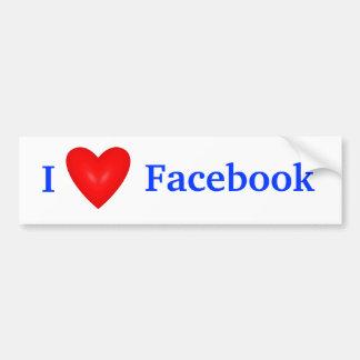 I Heart Facebook Bumper Stickers - Car Stickers | Zazzle