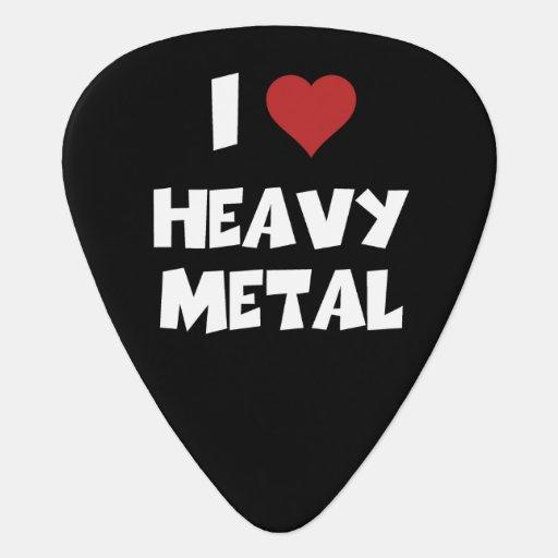 i love heavy metal guitar pick zazzle. Black Bedroom Furniture Sets. Home Design Ideas