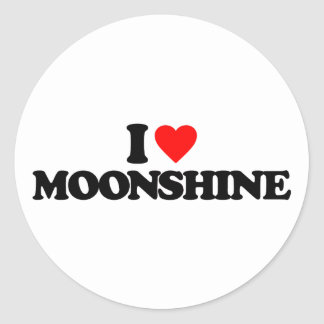 I LOVE MOONSHINE STICKERS