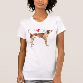 I Love my American English Coonhound Shirt