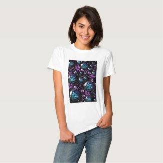 I Love My CATS Fractal T-Shirt by Artful Oasis