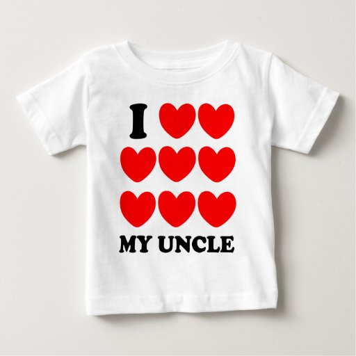 I Love My Uncle Baby T Shirt Zazzle