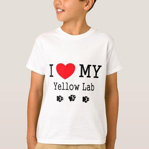 I Love My Yellow Lab T-Shirt | Zazzle