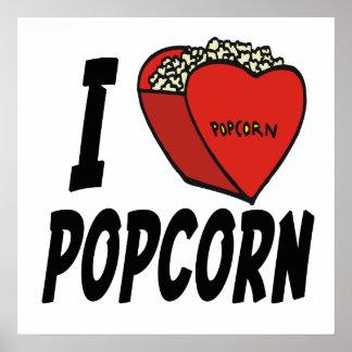 I Love Popcorn Posters I Love Popcorn Prints Art Prints