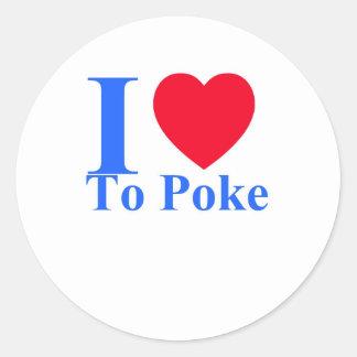 I love to poke sticker