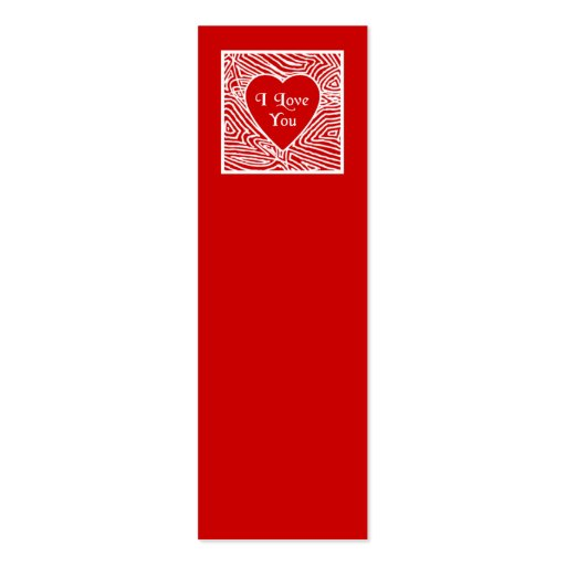 double sided bookmark template - i love you mini bookmarks double sided mini business