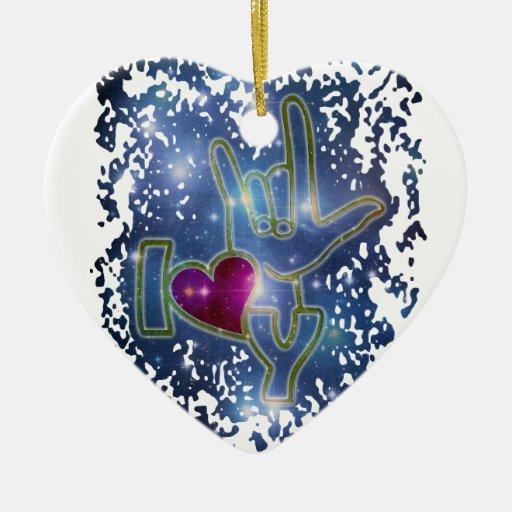 I LOVE YOU / sign language Christmas Ornament   Zazzle