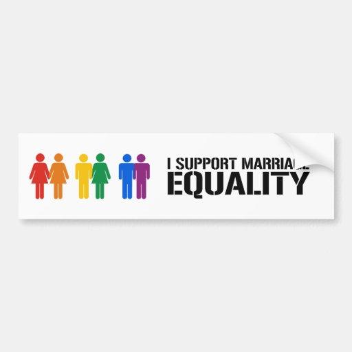 i support same sex marriage bumper sticker in Weipa