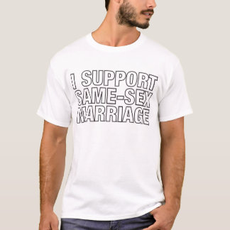 I Support Same Sex Marriage T Shirt 104