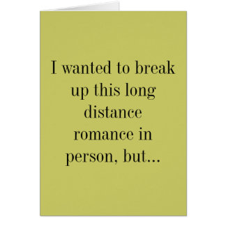 split up long distance relationship