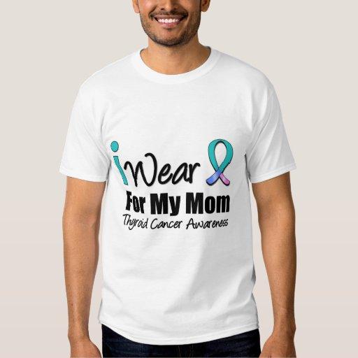 I Wear Thyroid Cancer Ribbon For My Mom Shirt   Zazzle