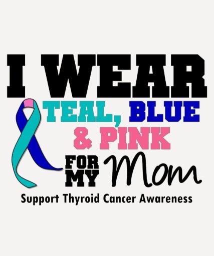 I Wear Thyroid Cancer Ribbon For My Mom T-shirts   Zazzle