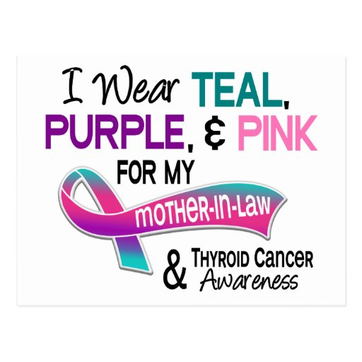 I Wear Thyroid Cancer Ribbon For My Mother-In-Law Postcard ...