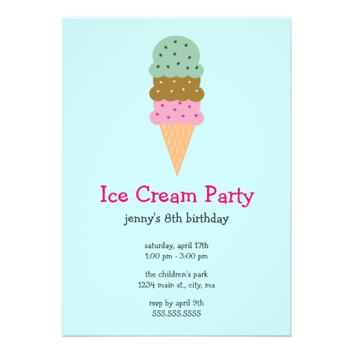 Ice Cream Social Flyer Template Free Ice cream party invitations