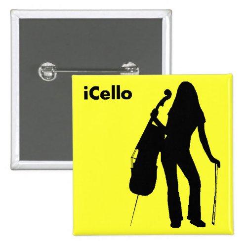 iCello 2-inch Square Button