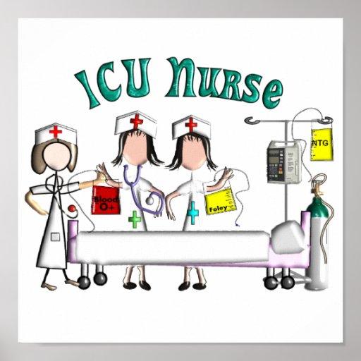 ICU Nurse Canvas Art -Unique 3D Artist Graphics Poster
