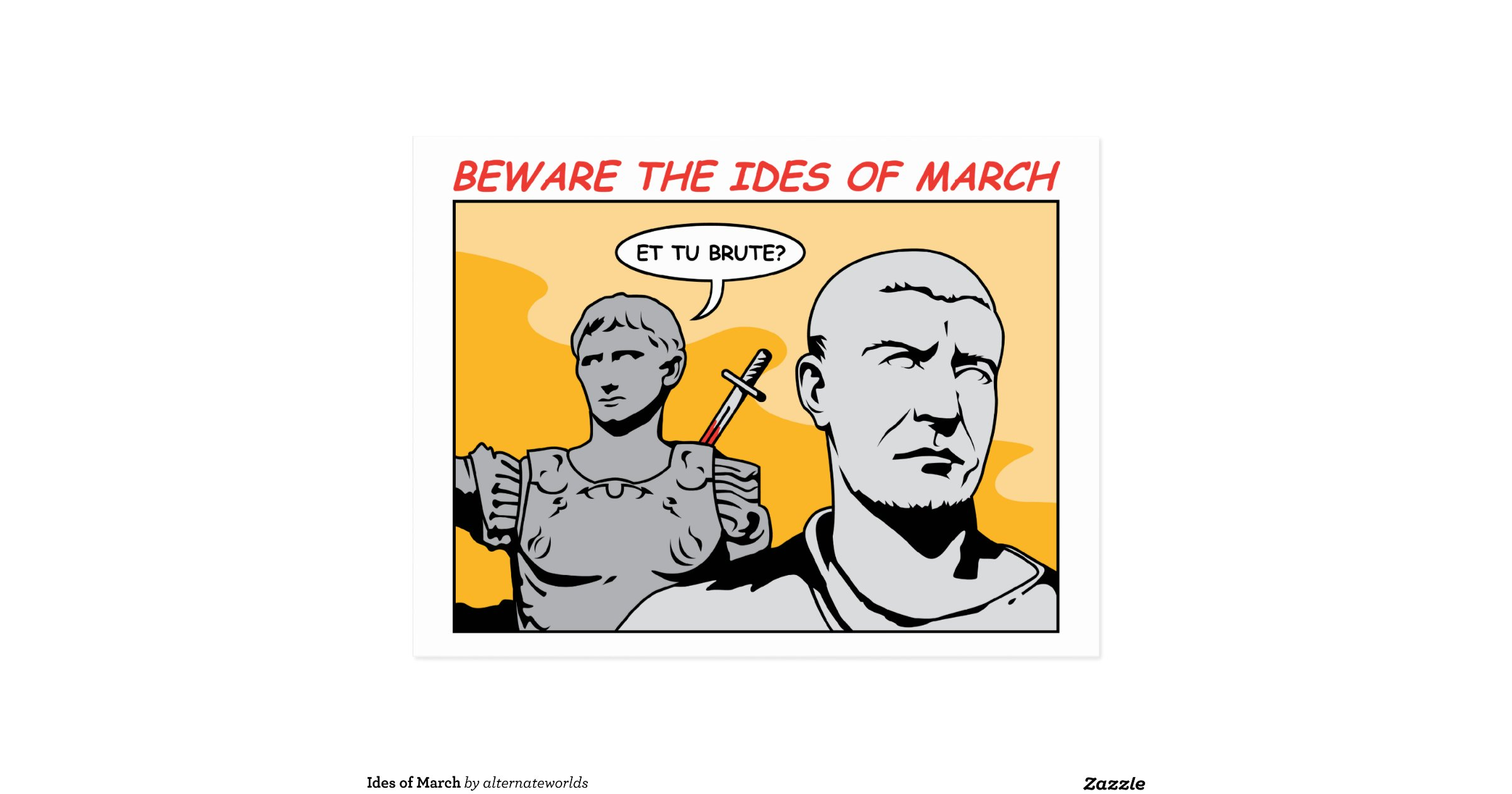 Ides Of March News: Ides_of_march_postcard-r91816a7f2d6547ab9f4c07019bf5fc0c