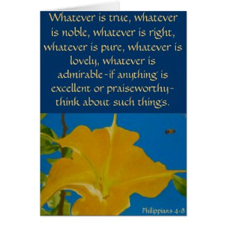 If Anything is Excellent or Praiseworthy Greeting Cards