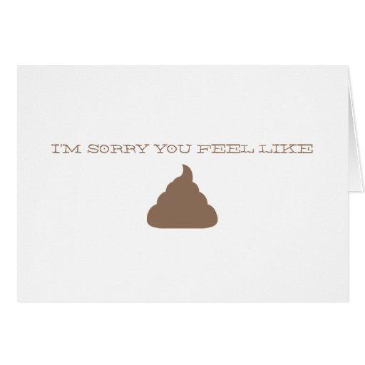 I'M SORRY FUNNY CARD
