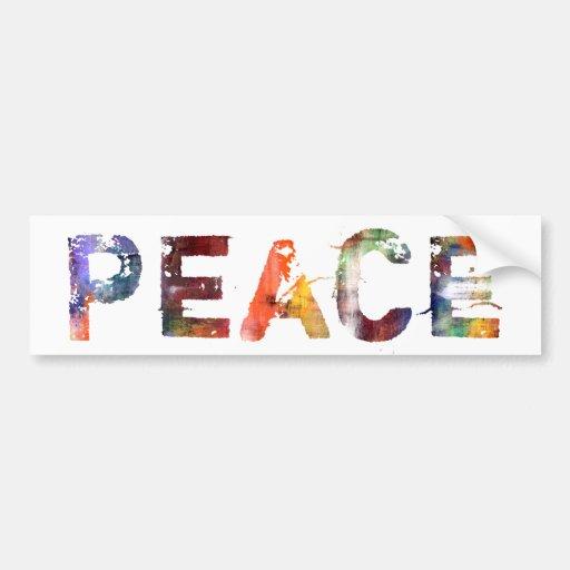 In A Word Peace Car Bumper Sticker Zazzle